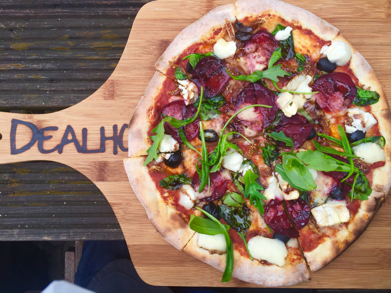 Quality wood-fired pizzas at the Deal Hoy. Photo: SE