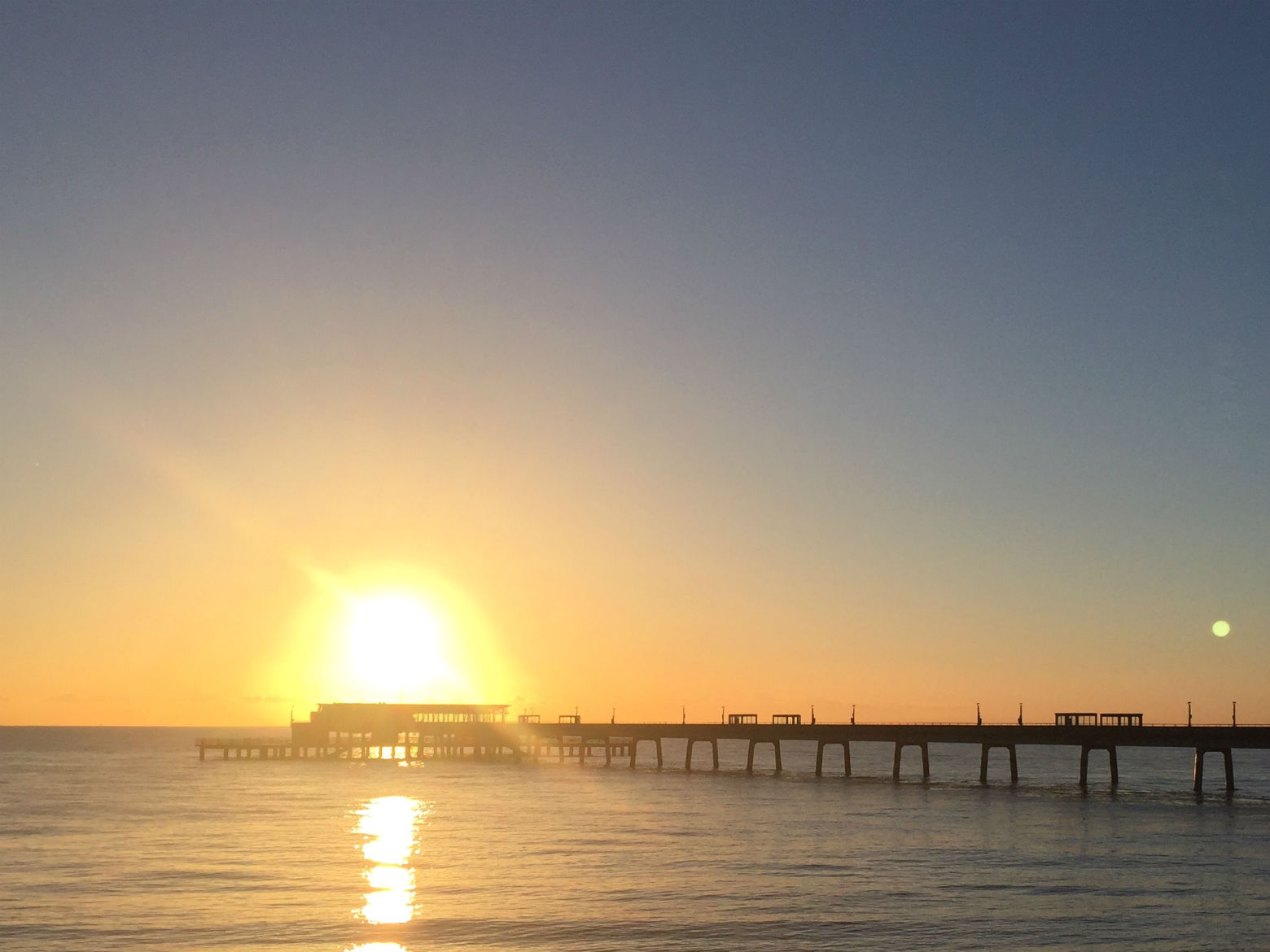 The pier at sunrise. Get up early so you don't miss it. Photo: SE