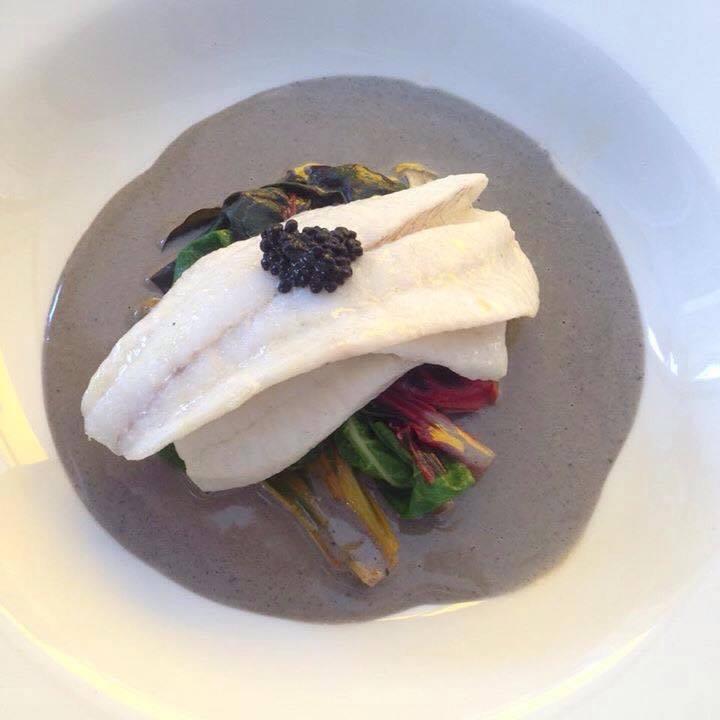 Halibut with avruga caviar at Frog & Scot. Photo: Sarah Ross