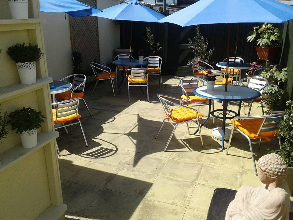 The summer terrace at Whit's. Photo: Eva Whitney