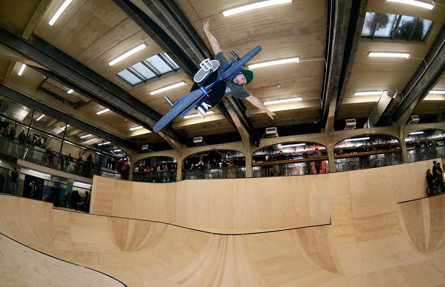 Opened this year - the very cool underground skate park. Photo: Kevin Kalkoff