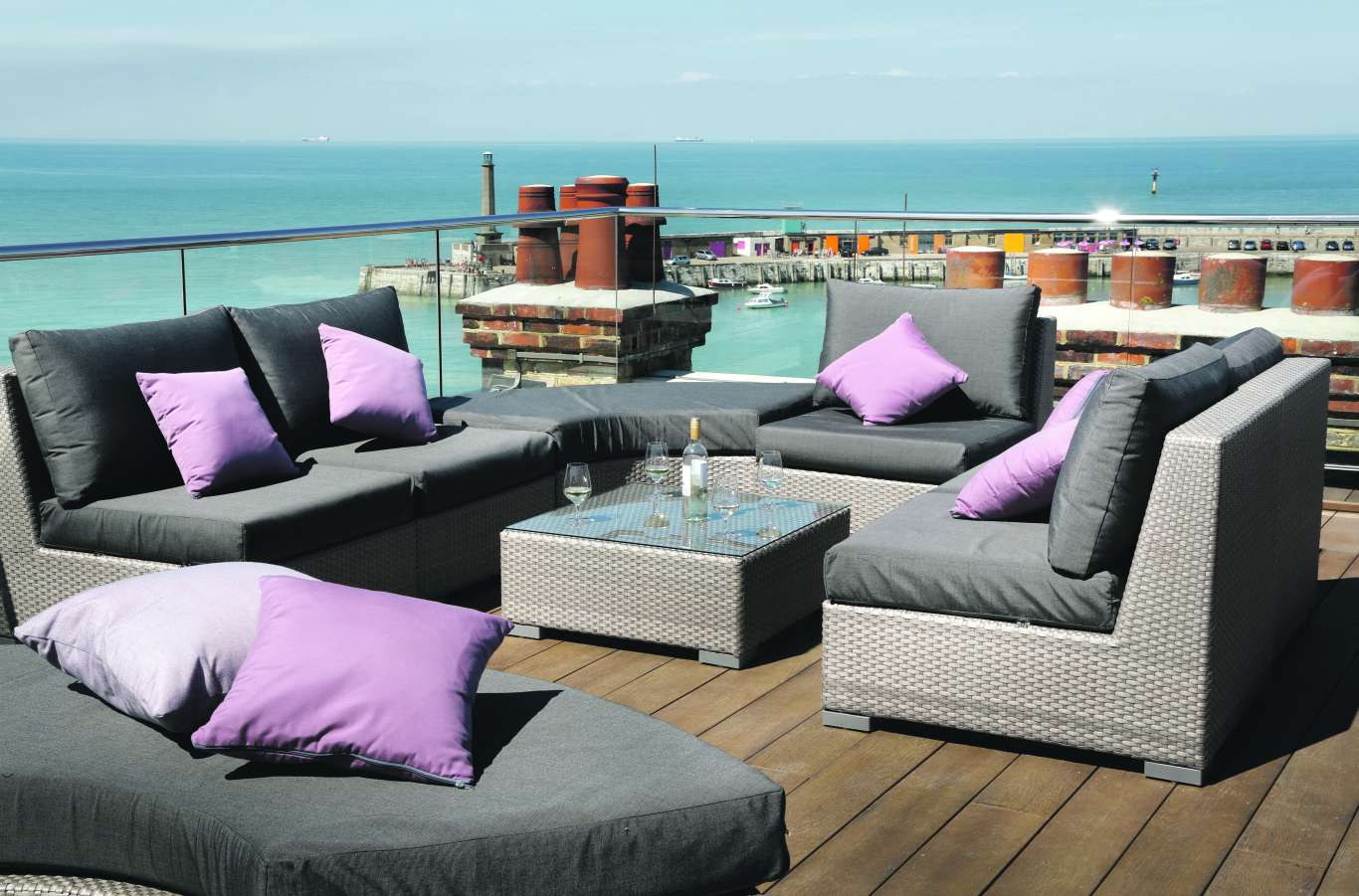 The rooftop terrace at the Sands Hotel. Photo: Sands