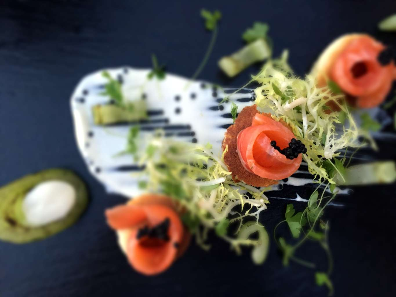 The salmon starter at Sands Hotel. Photo: Stephen Emms