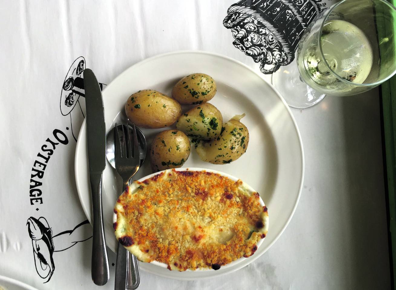 Fish pie at the Oysterage. Photo: SE