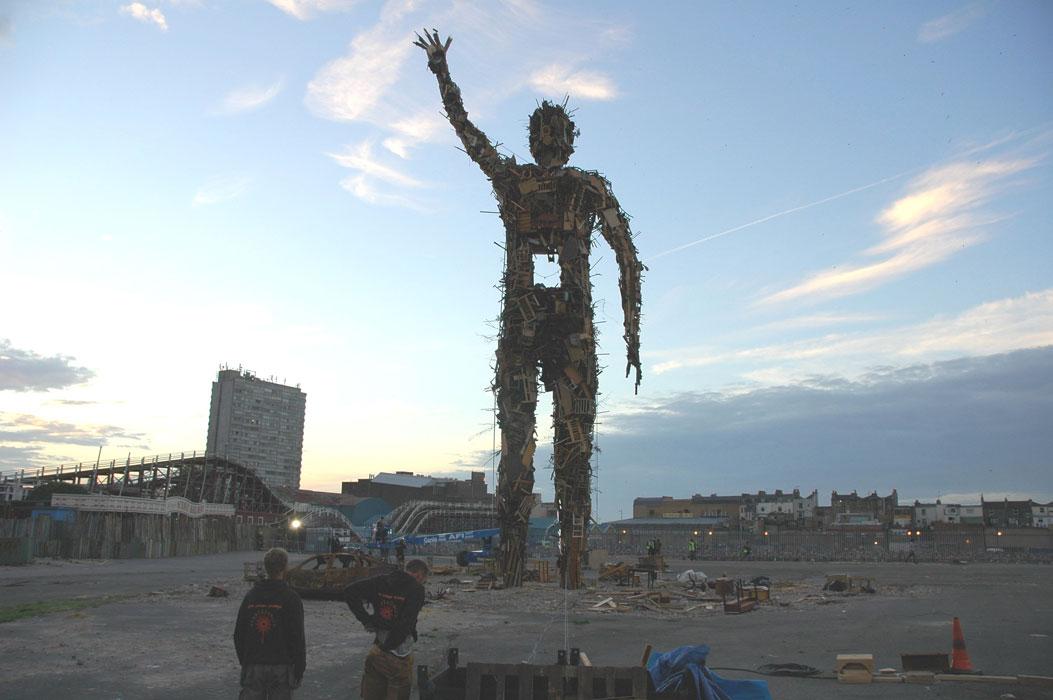 Antony Gormley's Waste Man 2006. Photo: Antony Gormley