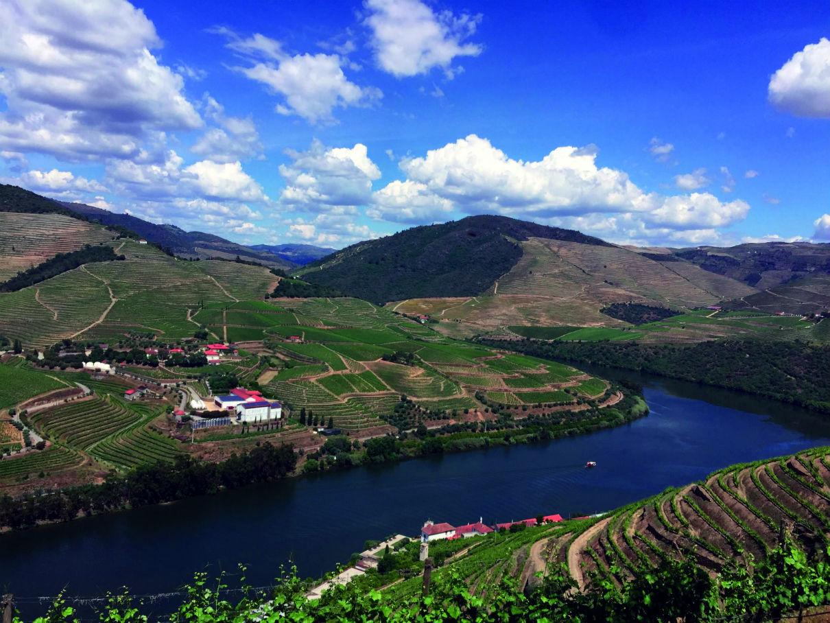 Douro Valley under blue skies