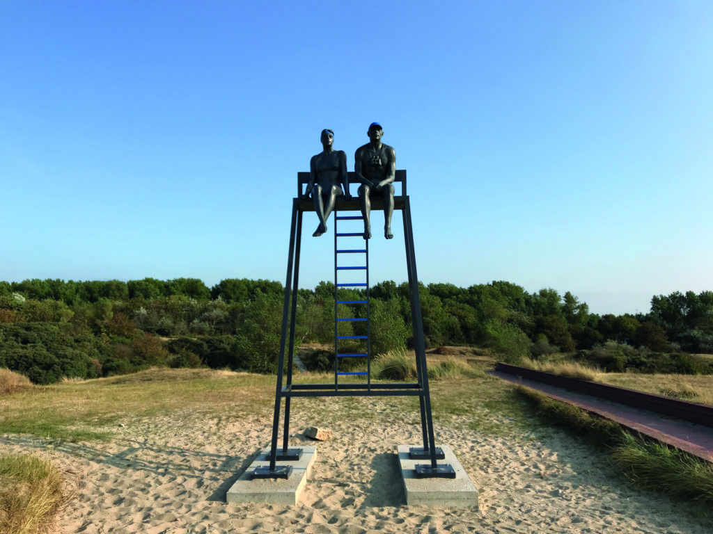 Aurora Canero's Lifeguards, part of the art trail in Knokke-Heist