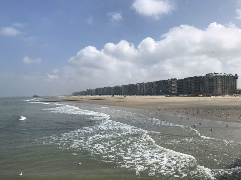 View from the palisades over the beach in Blankenberge